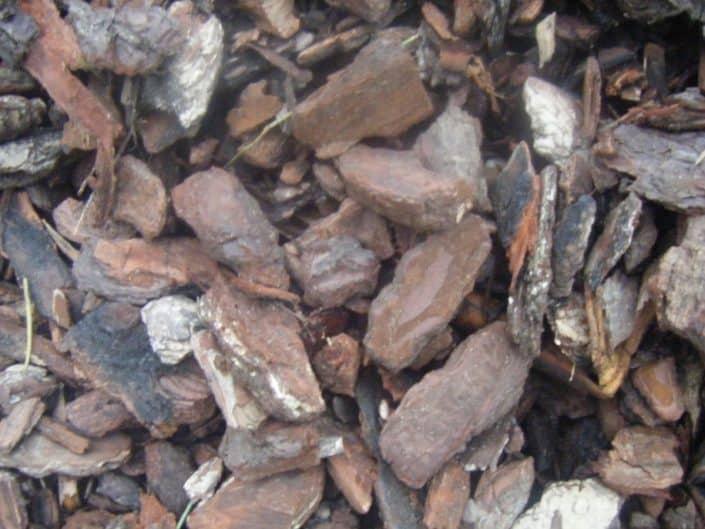 Corteza de pino para jardín