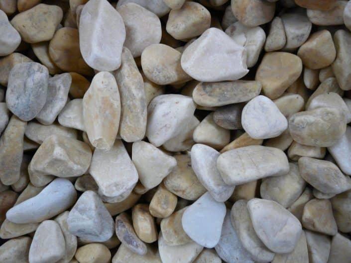 Piedras blancas para jardín